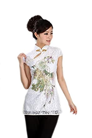 Jtc Ladies Chinese Style Tang Suit Summer Tops Custom Fit White Clothes Clothing