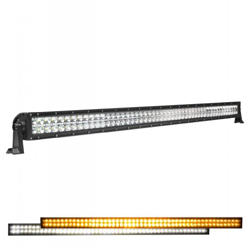 "Jumbl™ High Power 300W 50"" Inch 21000 Lumens Flood/Spot Combo Bar Dual Color (White/Orange) Led Light - Auxiliary Off Road Work Lamp For Car, Suv, Tractor, Boat, 4X4, Truck, Atv"