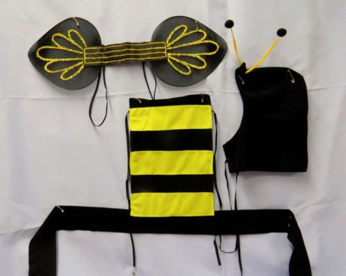 [Bumble Bee Halloween Party Costume Kit] (Eye Makeup For Bumble Bee Costume)