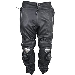 Vulcan Mens NF-8145-A Armored Naked-Leather Racing Motorcycle Pants - 38