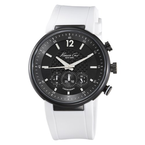 Kenneth Cole Mens Watch KC1649 with Black Dial and Black Silicone Strap
