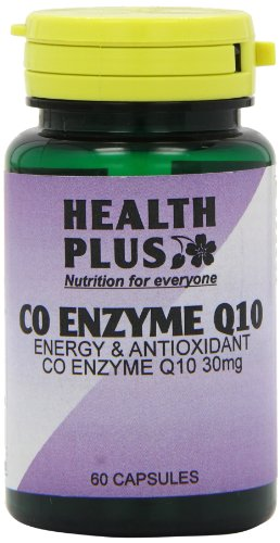 Health Plus Co Enzyme Q10 30mg Energy and Antioxidant Supplement - 60 Capsules