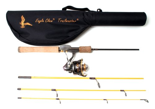 Eagle Claw Trailmaster Spinning Combo and 6 Ball Bearing Spin (4 Piece)