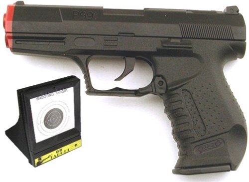 Airsoft Gun Spring Pistol Comes with a Trap Target, Full Scale 1/1 Shoots Around 240 FPS