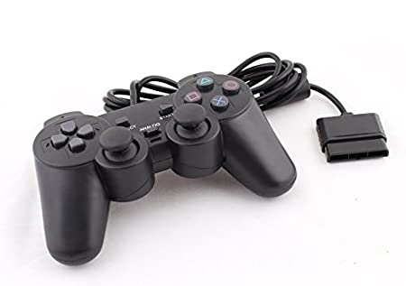 XGL PlayStation 2 Wired Gaming Controller Joypad Joysticks for PS2 Console Gamepad Black