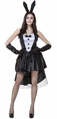 JustinCostume Women's Sexy Bunny Costume Halloween Magician Outfits Clubwear