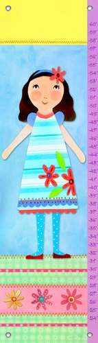 Oopsy Daisy Growth Charts My Doll 4 by Jessica Flick, 12 by 42-Inch
