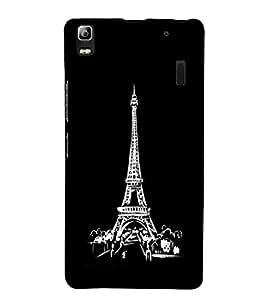 Eiffel Tower 3D Hard Polycarbonate Designer Back Case Cover for Lenovo A7000 :: Lenovo A7000 Plus :: Lenovo K3 Note