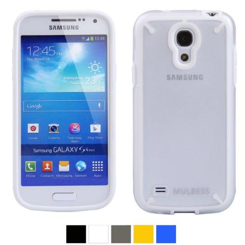 Mulbess® Samsung Galaxy S4 Mini I9190 DUAL TPU Hardcase Hülle Schutzhülle (Weiß/löschen)