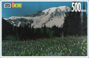 Encore Jigsaw Puzzle 500 Piece Rose Art Rainier National Park