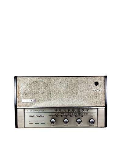 1940s Vintage Vista 640 AM/FM Radio, Brown/Ivory