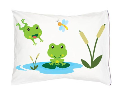 Frog Pollywod Pond Froggy Leap Froggie (Toddler Pillowcase)
