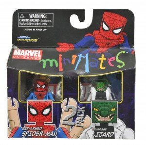 Picture of Art Asylum Marvel Minimates Series 37 Mini Figure 2Pack SpiderMan Lizard (B004HLW4SY) (Spider-Man Action Figures)