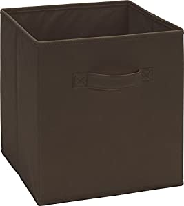 altra furniture cube square fabric bin storage 10 5 inch by 11 inch brown. Black Bedroom Furniture Sets. Home Design Ideas