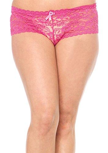 Womens Leg Avenue 2914Q Stretch Lace Ga With Satin Bow Accent Tanga Underwear