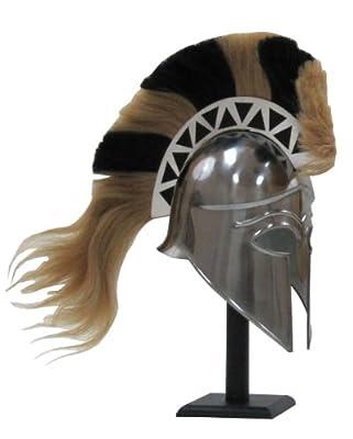 Greek Corinthian Armor Helmet With Plume - Medieval Knight Spartan Helmet