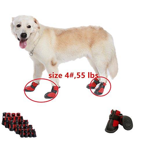 Artikelbild: Namsan Hund Schuhe für Hunde, Wasserdicht und Anti Skid & Snow Hund Winterstiefel für mittlere Hund Rot #2-1.9'x1.65'(LxB)