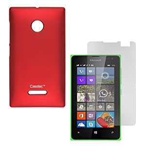 Casotec Ultra Slim Hard Shell Back Case Cover for Microsoft Lumia 532 - Maroon Red