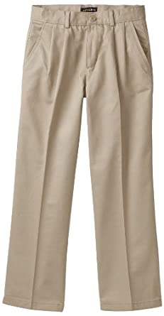 Dockers  Big Boys' Pleated Twill Pant,Khaki,12