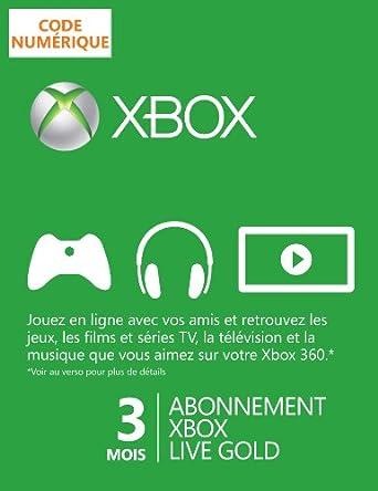 Abonnement Xbox Live Gold 3 mois [Code Digital - Xbox Live]
