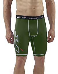 Sub Sports DUAL Men\'s Compression Base Layer Shorts - Green - XL