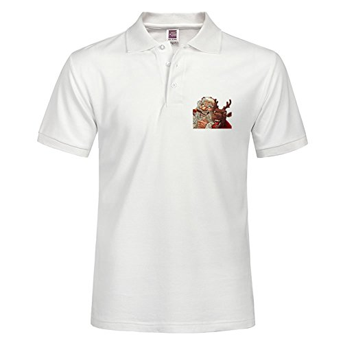 Polo T-shirt Short Sleeve With Santa Claus Christmas Snow T-shirts,santa Claus Ch Pattern Casual Tees For Men