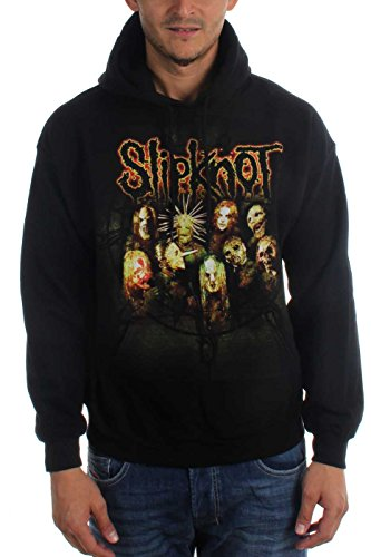 Slipknot-non Die Group-Felpa con cappuccio, colore: nero nero Medium