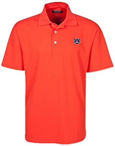 NCAA Auburn Tigers Mens Micro-Check Golf Polo Shirt by Oxford