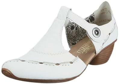 Rieker 43756, Escarpins femme - Blanc (TR-B1-Blanc-134), 36 EU