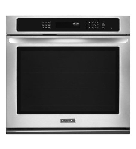 """30"""" Single Wall Oven with 5.0 cu. ft. Capacity, True Convection, 3 Oven Racks, EvenHeat Technology, Hidden Element, Self-Cleanin"""