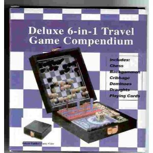 Deluxe 6-in-1 Travel Game Compendium by Unknown - 1