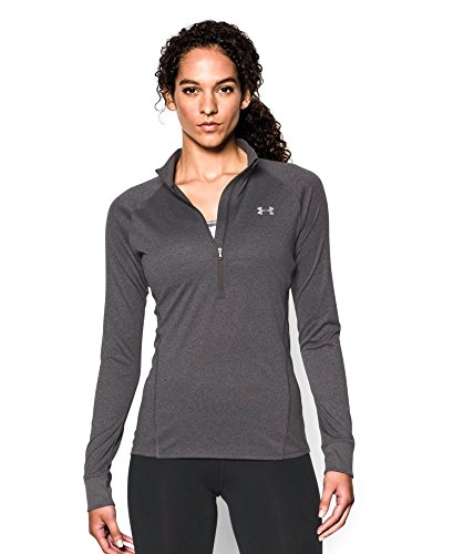 Under Armour Women's Tech 1/4 Zip, Carbon Heather (090), Large