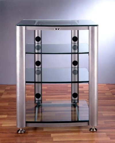 Vti Audio Rack Hgr404 Four Shelf Glass Rack