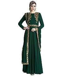 Stopnshop Fresh Designer Green Color Embroidered party Wear Anarkali Suit