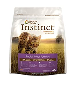 Instinct Grain-Free Rabbit Meal Dry Cat Food by Nature's Variety, 2.2-Pound Package