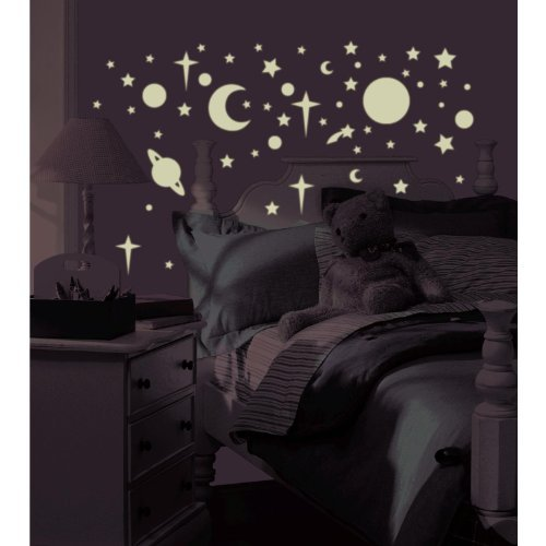 Roommates Rmk1141Scs Celestial Glow In The Dark Peel & Stick Wall Decals, 258 Count Toy, Kids, Play, Children front-798370