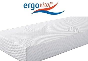 Ergovital Ergowell Viscoschaum-Matratze mit Kaltschaum und Microtaschenfedernkern 100 Punkte im LGA-Test, Größe:120 x 200 cm;Härtegrad:H2