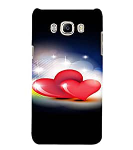 PrintVisa Love Hearts Design 3D Hard Polycarbonate Designer Back Case Cover for Samsung Galaxy J5