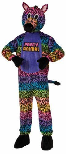 Forum Novelties Men's Party Animal Zebra Plush Mascot Costume