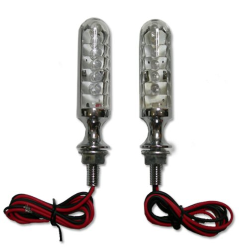 Chrome Billet Led Motorcycle Turn Signals For Suzuki Gn125,Gn250,Gn400