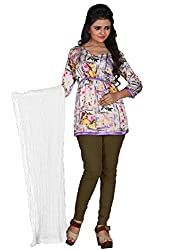 Jiya Prerents Stylish and Versatile Cotton Women's Dupatta(White)