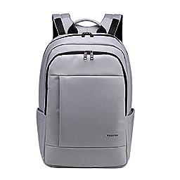 Kopack Deluxe Grey Water repellent 15.6 17 Inch computer business travel Laptop backpack daypack