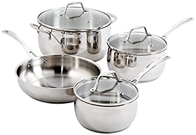 Oster 91997.07 Bovolone 7-Piece Stainless Steel Cookware Set, Multi-Size