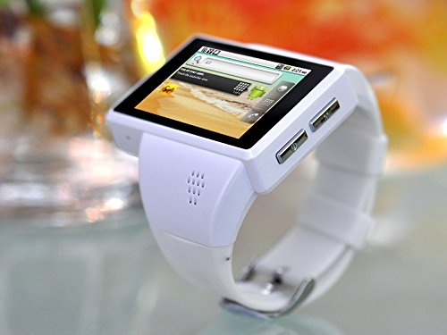 New Shop Android Phone Watch Rock 2 Inch Capacitive Screen 8GB Micro SD Camera (White)