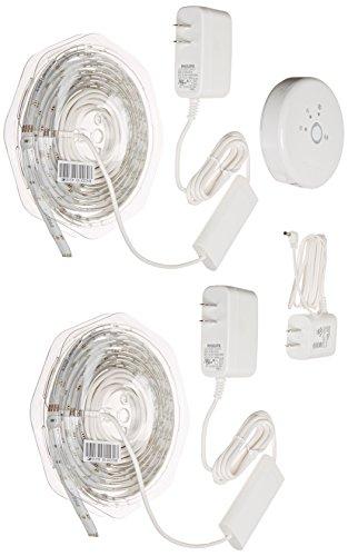 Philips Hue Lightstrips Starter Pack, 1st Generation, Works with Amazon Alexa (Hue Lightstrips Starter Kit compare prices)