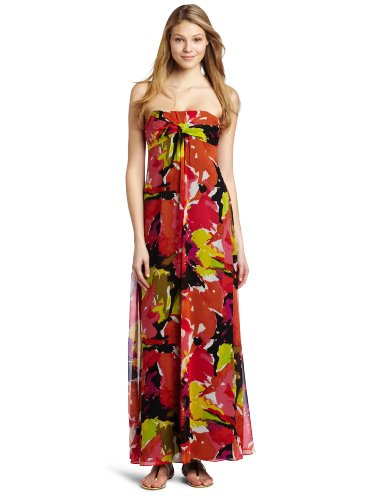 Trina Turk Women's Lynde Strapless Dress, Multi, 2
