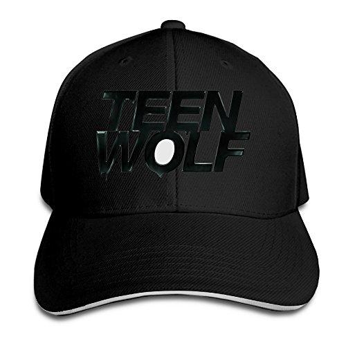 [ACMIRAN Teen Wolf Fashion Sandwich Baseball Caps One Size Black] (Johnny Depp Wolf Costume)