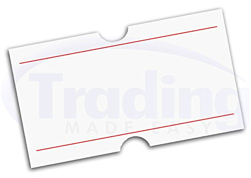 etiquettes pour etiqueteuse prix blanch avec ligne 22 x 12mm