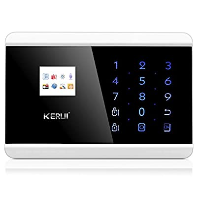 KERUI ANDROID IOS APP Wireless Wired GSM Alarm System Telephone Touch keypad TFT color Display Security System Smoke Detector by KERUI
