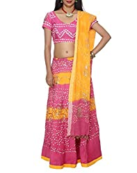 Indian Designs Cotton Sequins Work Ethnic Multi Color Lehenga Choli Lot By Rajrang